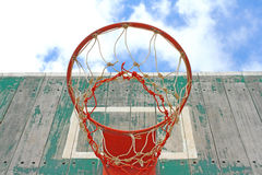 Old wooden basketball hoop Royalty Free Stock Photography