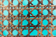 Old wooden basketwork. A macro photo of old wooden basketwork Stock Image