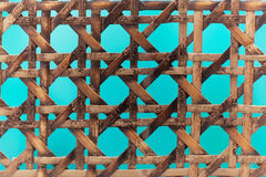 Old wooden basketwork. A macro photo of old wooden basketwork Stock Photos