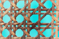 Old wooden basketwork. A macro photo of old wooden basketwork Stock Photography