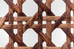 Old wooden basketwork. A macro photo of old wooden basketwork Stock Photo