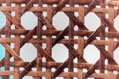 Old wooden basketwork. A macro photo of old wooden basketwork Royalty Free Stock Images
