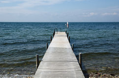 Old wooden bath pier Stock Photo