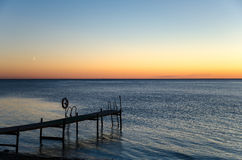 Old wooden bath pier Stock Image