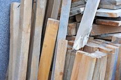 Old wooden beam Stock Image