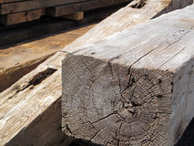 Old Wooden Beams Stock Photo