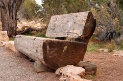 The old wooden bench. In a Grand Canyon national park royalty free stock photos