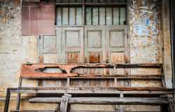 Old wooden bench background. Royalty Free Stock Images
