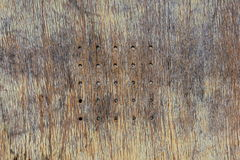 Old wooden bench background. Old wooden bench ream center background royalty free stock photo