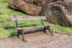 Old wooden bench Royalty Free Stock Photography
