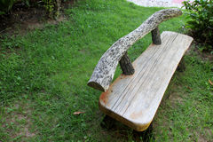 Old wooden bench in the garden Royalty Free Stock Photos