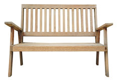 Old wooden bench isolated Stock Photography