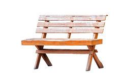 Old wooden bench isolated Royalty Free Stock Photography