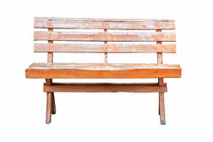 Old wooden bench isolated Royalty Free Stock Photo