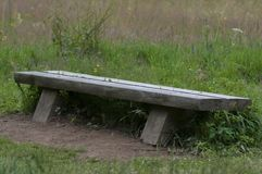 Bench in mountain Bieszczady in Poland Stock Photography