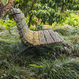 Old wooden bench in park Royalty Free Stock Images