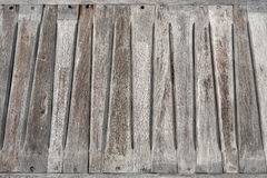 Old wooden bench seat Stock Image