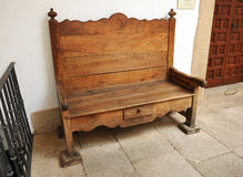 Old wooden bench, Spain Royalty Free Stock Photography