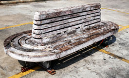 Old Wooden Bench in Sunlight Stock Photography