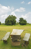 Old wooden benches Royalty Free Stock Photos