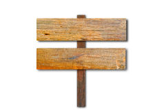 Old wooden billboard. On white background Royalty Free Stock Photos