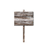 Old wooden billboard isolated Stock Image