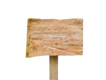 Old wooden billboard isolated Stock Photo