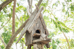 Old wooden bird house Royalty Free Stock Images
