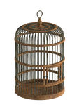Old wooden birdcage Royalty Free Stock Images