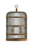 Old wooden birdcage Royalty Free Stock Photo