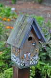 Old wooden birdhouse stock images