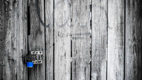 Old wooden black and white door in vintage style Royalty Free Stock Photography