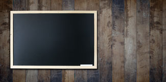 Old wooden Blank chalkboard Royalty Free Stock Photography