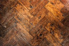 Old Wooden Block Floor Royalty Free Stock Image