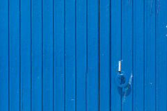 Old wooden blue door. Royalty Free Stock Photography