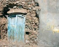 Blue wooden door Royalty Free Stock Images