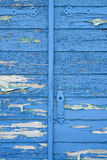 Old wooden blue door Stock Image