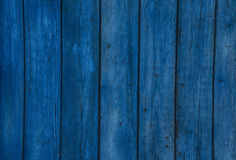 Old wooden  blue horizontal boards. Front view with copy space. Royalty Free Stock Image