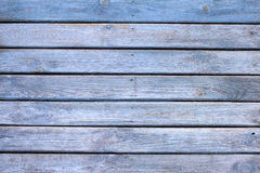 Old wooden blue painted boards background Stock Image