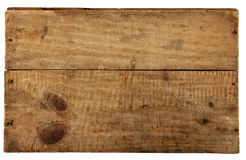 The really old wooden board. From old box, isolated on white Royalty Free Stock Photos