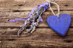 Old wooden board with a heart Royalty Free Stock Photos