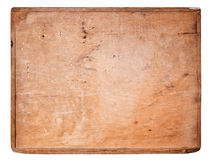 Old Wooden board isolated on white. Royalty Free Stock Photos