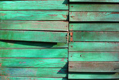 Old wooden board. With malachite green pattern Royalty Free Stock Image