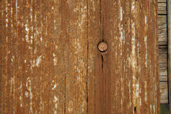 Old wooden board with nail Stock Photo