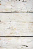 Old wooden board painted white. Stock Image
