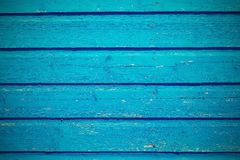 Old wooden board texture background bright blue color Stock Photography