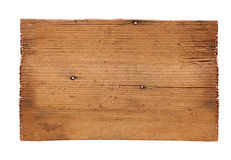 Old wooden boards isolated on white background. close up of an empty wooden sign on white background with clipping path. Old wooden boards isolated on a white Royalty Free Stock Images