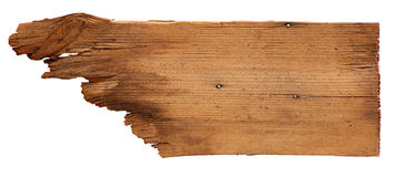 Old wooden boards isolated on white background. close up of an empty wooden sign on white background with clipping path. Old wooden boards isolated on a white Stock Photo