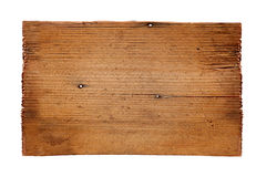 Old wooden boards isolated on white background. close up of an empty wooden sign on white background with clipping path. Old wooden boards isolated on a white Stock Images