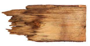 Old wooden boards isolated on white background. close up of an empty wooden sign on white background with clipping path. Old wooden boards isolated on a white Royalty Free Stock Photography